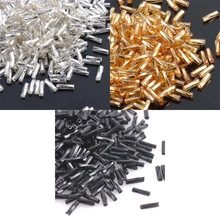 Buy 3 Color 6x2mm 500pcs Crystal Glass Spacer Beads, SILVER LINED Gold Silver Czech Seed Beads Jewelry Handmade DIY BL6MMG02X for $1.07 in AliExpress store