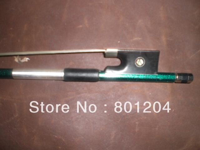 Фотография 2pcs violin bow(carbon fiber violin bow) 4/4 size in green color