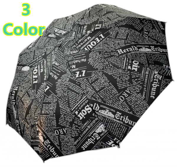 2016 sale seconds kill the sun rain paper pattern parasols novelty items pencil 3 color newspaper umbrellas for free shipping(China (Mainland))