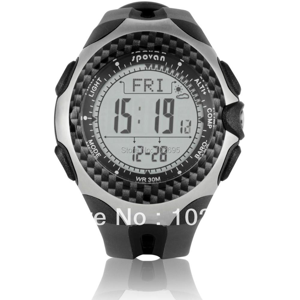 Brand spovan Multi function outside Men Watch Climbing sport watch compass altimeter Kpa Hpa Pressure test shockproof<br><br>Aliexpress