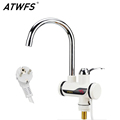 ATWFS Instant Tankless Water Heater Tap Instantaneous Faucet Kitchen Water Heater Crane Instant Hot Water Faucet
