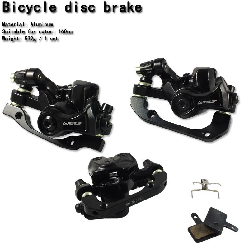 Cycling Bicycle bike Mechanical Calipers disc brake rotor control lines 160MM black