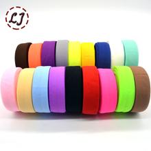 New brand 3/4''(20mm) matt color binding tape elastic ribbon webbing trim lace solid headwear handmade DIY decoration crafts(China (Mainland))