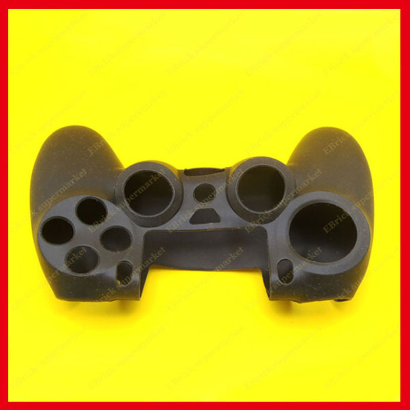 10pcs Black Silicone Case Protective Skin Case Cover For PS4 Controller(China (Mainland))