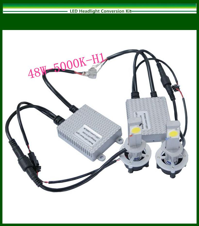 Новые 48ВТ Н1 5000K светодиодные фары набор преобразования КРИ 2*24Watt светодиоды лампы