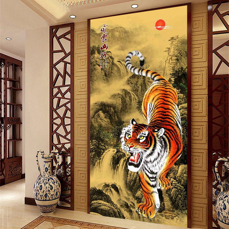Siberia Tiger DIY 5D Diamond Painting Round Diamond Embroidery dmc cross stitch new year christmas decoration diamond mosaic(China (Mainland))