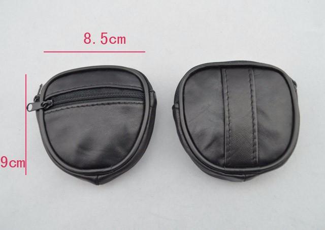 Mini Men's genuine Leather Waist Belt Loops Bag Coin Pocket Case Wallet  (5)