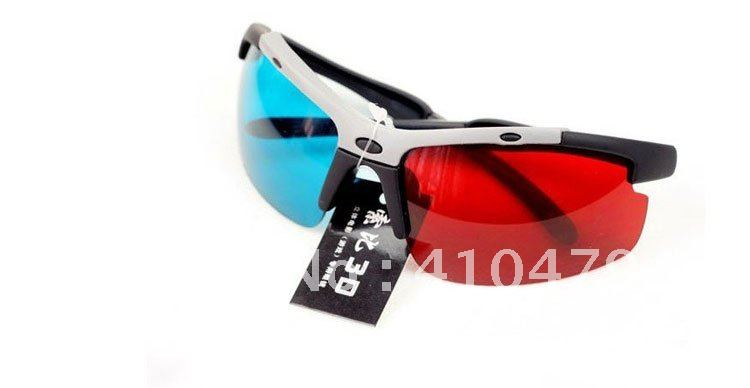 New Pair Red Blue Anaglyph 3D Dimensional 3 D Glasses DVD Movie(China (Mainland))