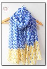 Lovely Feather Print Scarf 2014 Spring Women Shawl 100% Voile Designer Neckerchief Bohemia Style