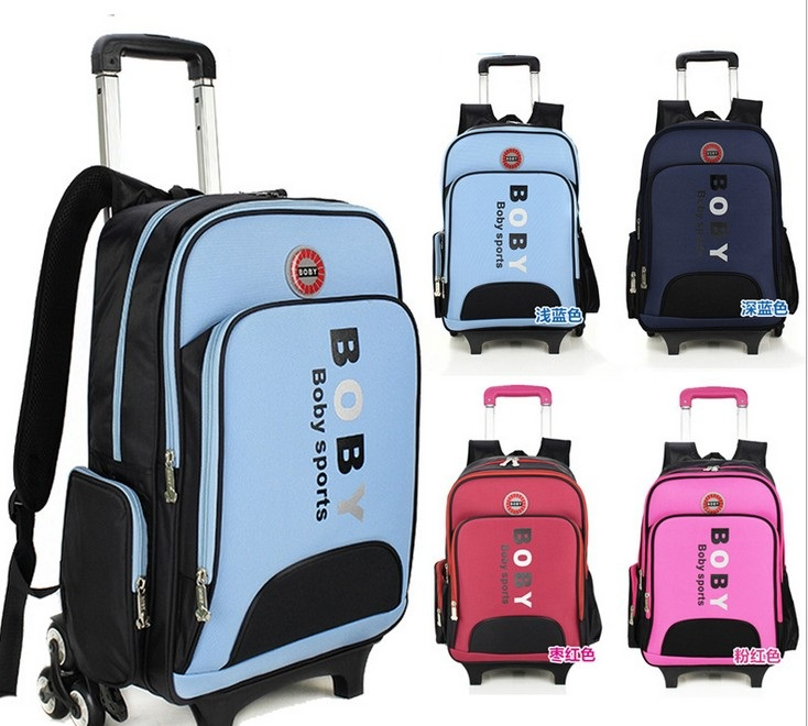 kids trolley school bag trolley Bags with 3 Wheels children school bags AluminumTrolley Travel luggage bags(China (Mainland))