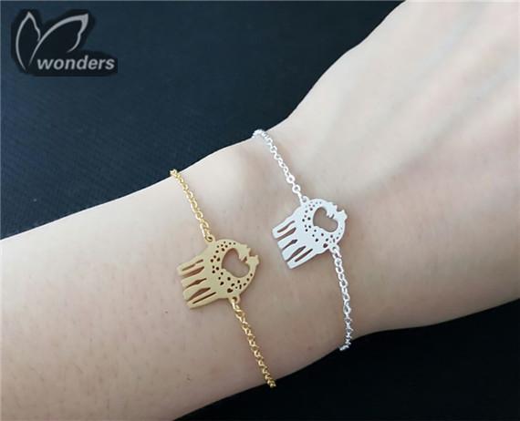Loving giraffe bracelet Jewelry animal charm bracelet women bridesmaid gift unique<br><br>Aliexpress