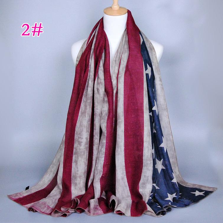 2015 new brand american flag scarf vintage usa flag