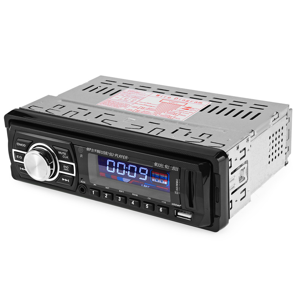 Best Supplier 2033 Car Audio Stereo 12V USB SD FM Radio Mp3 Player(China (Mainland))