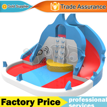 YARD shark inflatable water slide water park bounc house swimming pool with blower(China (Mainland))