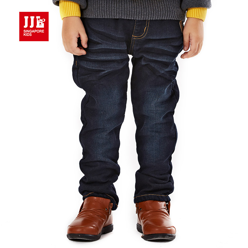kids boys demin jeans stonewashed design for  brand winter pants children causal pants baby jeans kids warm trouser size 4-11y<br><br>Aliexpress