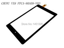 FPCA-80A09-V03 Black Digitizer Glass for CHUWI VX8 3G Touch Screen(China (Mainland))