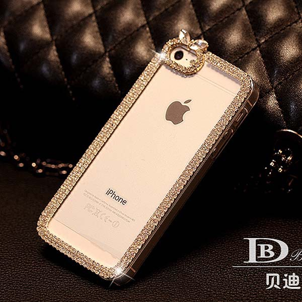 Hot Sale luxury bling diamond rhinestone Crystal protective case covers for mobile phone For iphone 6 4.7inch mobile phone case(China (Mainland))