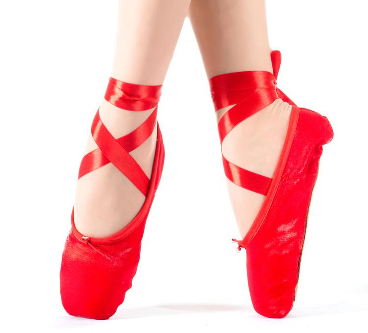 en vente haute qualit ladies professional ballet pointe chaussures de danse avec des rubans. Black Bedroom Furniture Sets. Home Design Ideas