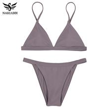 NAKIAEOI 2017 New Sexy Micro Bikinis Women Swimsuit Swimwear Halter Brazilian Bikini Set Beach Bathing Suits Swim Wear Biquini(China (Mainland))