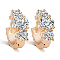 2015 New Arrival Brand Trendy Elegant Charm 18K Plated Gold/Silver Romantic Austria Crystal Stud Earrings Weddings Jewelry PT31