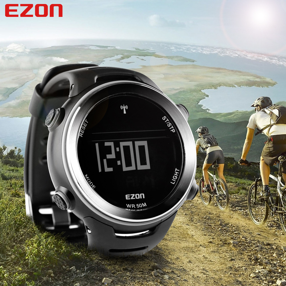 EZON L002A01 Outdoor Running Sports Watch World Time Stopwatch Multifunctional Waterproof Sports Electronic Watches(China (Mainland))