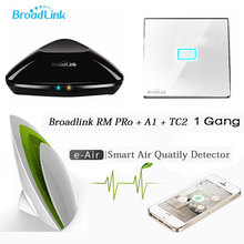 Smart Home Broadlink Rm2 Pro intelligent Controller+A1 Air Quality Detector+TC2 1Gang Wifi Remote Control Switch via Ios Android - Anni and Saarah Electronics Company Ltd store