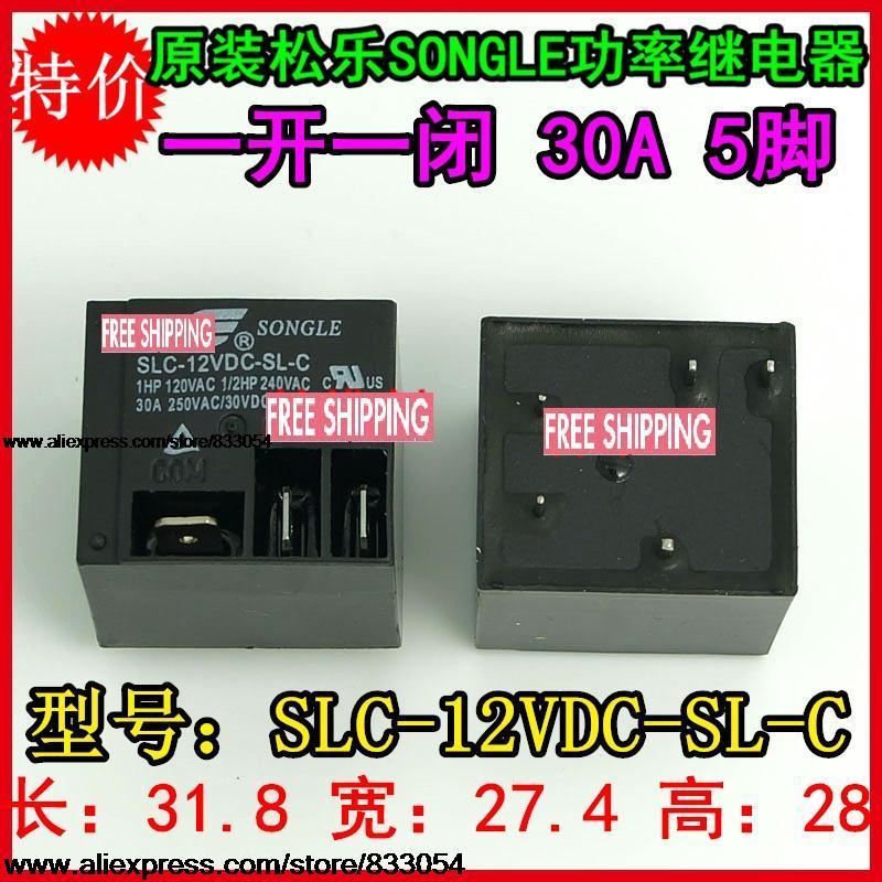 Гаджет  NEW 5PCS Relay T91 SLC-12VDC-SL-C relay 12V 30A 250V None Электротехническое оборудование и материалы
