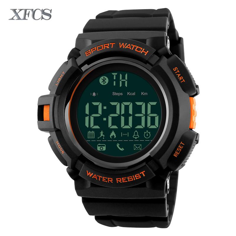 XFCS 2017 waterproof wrist digital watches for men digitais watch running mens man digitales shock clock Orange sport tactical(China (Mainland))