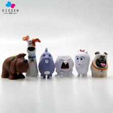 Kissen 6pcs/lot Plastic 5-8cm anime figure The Secret Life of Pets action figure set collectible model toys