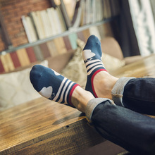 Wholesale mixed Free Shipping (5 pairs/lot) Invisible Socks Shallow Mouth Thin Cotton Socks White Fashion Men's socks