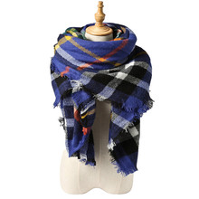 Free Shipping Scarf Lovely Best Gift Wrap Za Famous Brand Cashmere Shawl 2016 New Design Winter Tartan Plaid Shawl Woman