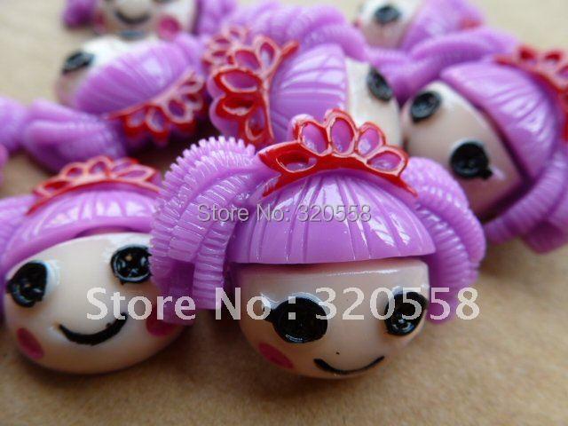 "New arrival crown Purple hair LA LA LOOPSY  1.2""  so cute FlatBack Resins Scrapbooking Embellishment 50PCS"