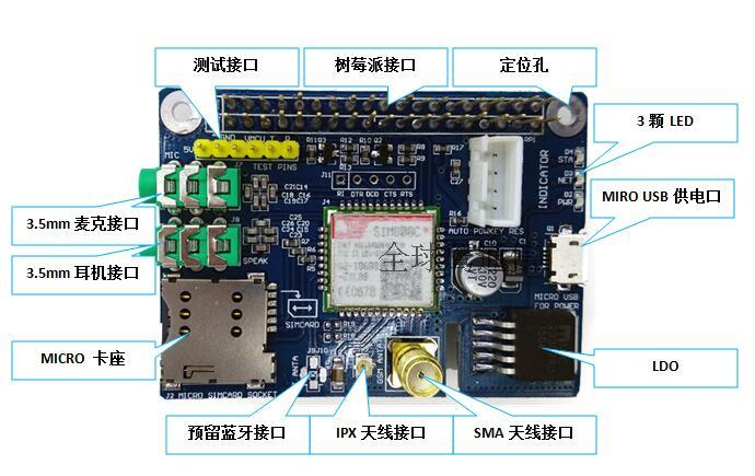 SIM800c Shield Development Board For Arduino Instead Of SIM900 Module GPRS GSM 4 Frequency Available