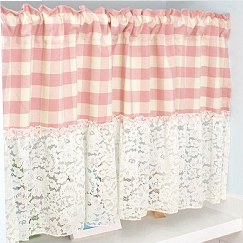 Popular Pink Kitchen Curtains-Buy Cheap Pink Kitchen