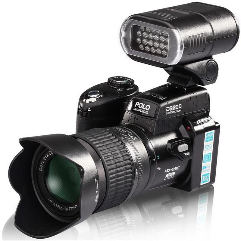 New Arrived HD PROTAX D3200 Digital Camera 16 Million Pixel Camera Digital Professional SLR Camera 21X Optical Zoom 3 HD Lens(China (Mainland))