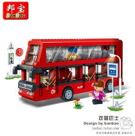 BanBao model building kits compatible with lego city bus 902 3D blocks Educational model & building toys hobbies for children(China (Mainland))