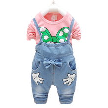 Baby Girl Clothes Baby Clothes Set Enfant Kids Clothing Bebek Giyim Baby Girl Overalls T-shirt Children Costumes Infant Outfits