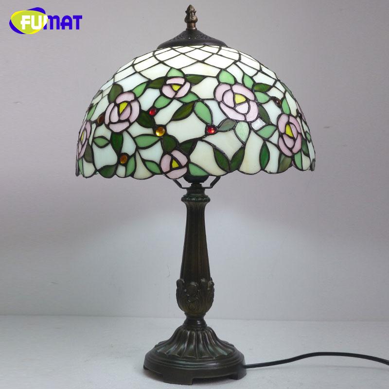 fumat creativa lmpara de mesa de luz stained glass table handmade deco sala luz lmparas de mesita de noche