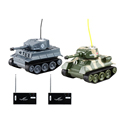 Happycow RC Battle Tank Toys Two Fighting Remote Control Army Tanks Infrared Tanks 2 Peice Kids
