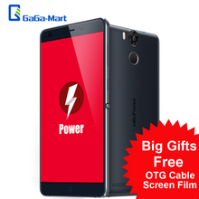 "Original Ulefone Power 5.5"" FHD 1920*1080 4G Smartphone Android 5.1 64bit MT6753 Octa Core  3GB+16GB 5MP 13MP 6050mAh Cellphone(China (Mainland))"