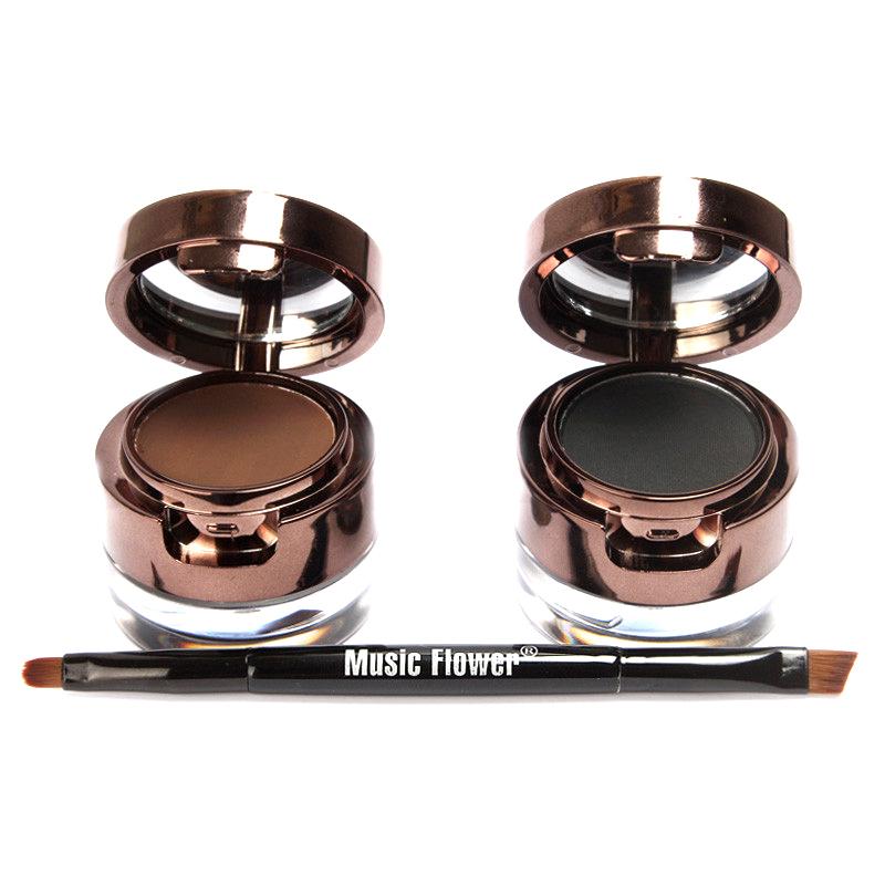 Гаджет  Brown + Black Gel Eyeliner Brown + Black Eyebrow Powder Make Up Water-proof and Smudge-proof Cosmetics Set Eye Liner Kit#M01220 None Красота и здоровье