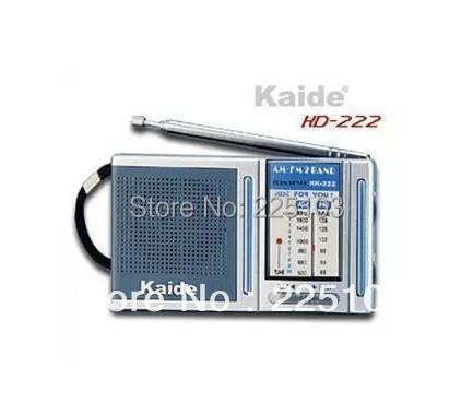 Free Shipping orginal transistor radio Kaide KD-222 KD222 AM/FM radio receiver portable Mini radio the old man with the radio(China (Mainland))