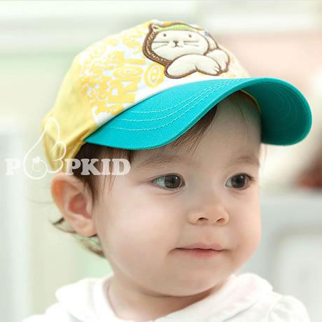 Cat baby classic casual baseball cap baby sun-shading cap