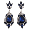 2015 Women s Blue Bohemia Chandelier Earrings Vintage Dangle Eardrop 6I8U