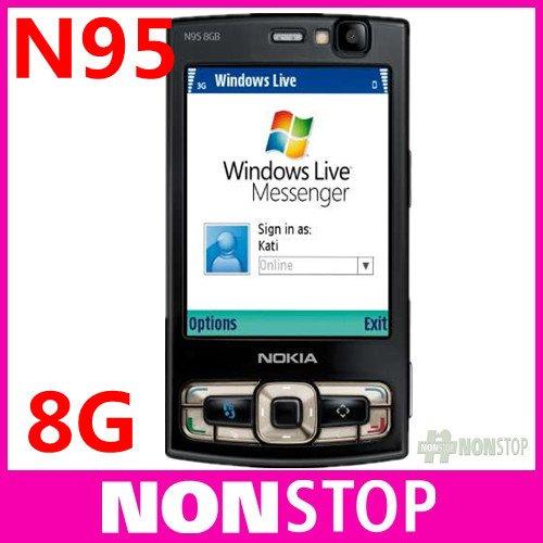 2pcs/lot N95 Original Nokia N95 8G WIFI GPS 5MP 2.8''Screen WIFI 3G Unlocked Mobile Phone FREE SHIPPING with 8GB internal(China (Mainland))