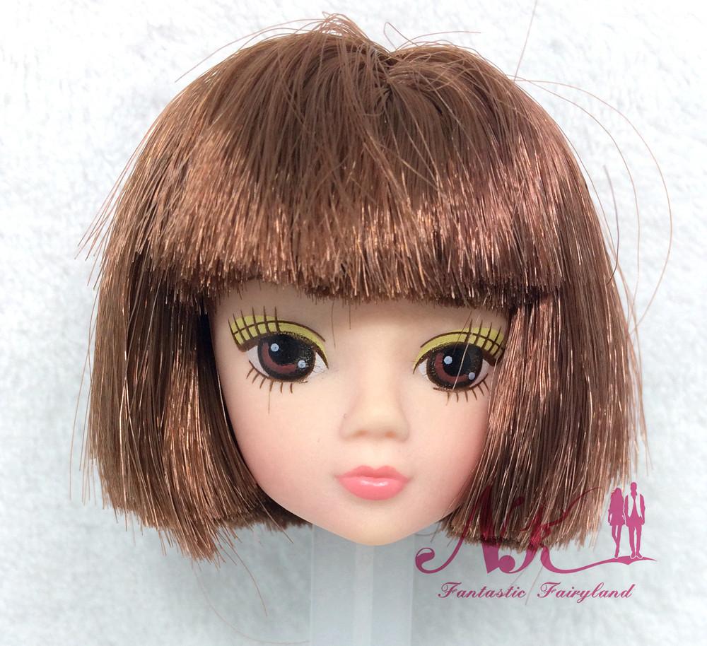 NK One Pcs Doll Equipment s High quality Doll Head with Bingle Hair DIY Equipment For Barbie Doll Kurhn Doll Cute Hair fashion