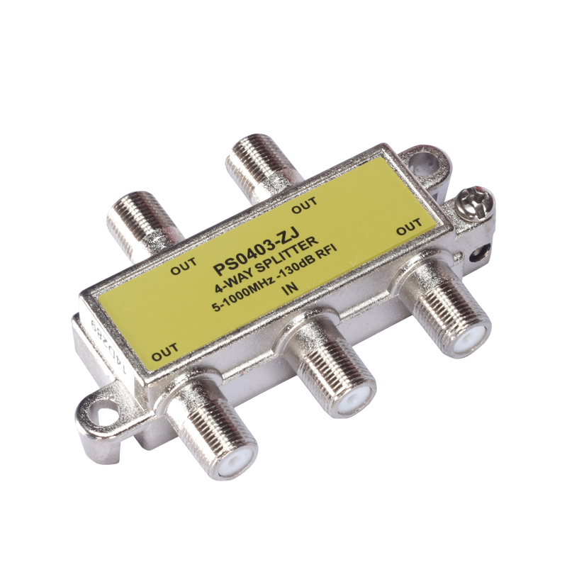 4-WAY 1 INPUT 4 OUT CABLE TV SPLITTER 5-1000MHz Digital Analogue Satellite Coaxial Out Connector(China (Mainland))