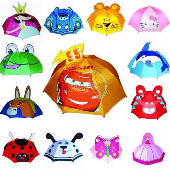 LittleSpring In Stock! many Designs Children Umbrella 3D Cartoon Rain Umbrella kids Children bumbershoot unbrealla