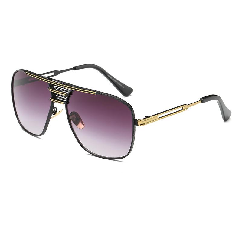mens black aviator sunglasses upzm  2017 Souson Aviator Sunglasses Men Vintage Mens Sunglasses Brand Designer  Metal Black Frame Goggle Eyewear Oversized