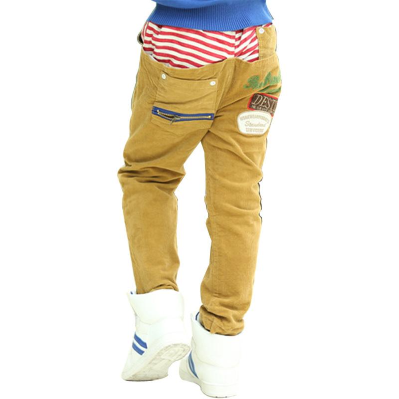 Child Demins Jeans Autumn Winter Pantaloon Boys Cotton Pants Fleece Warm Corduroy Trousers For Girls Wholesale 5pcs/lot(China (Mainland))